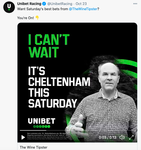 Cheltenham Showcase Unibet Video