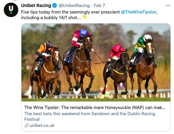 unibet Feb 2021 sandown/dublin racing