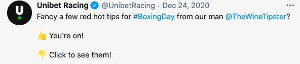 boxing day 2020 unibet