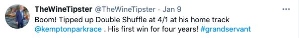 kempton jan 2021 double shuffle win