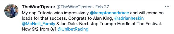 kempton win feb 2021