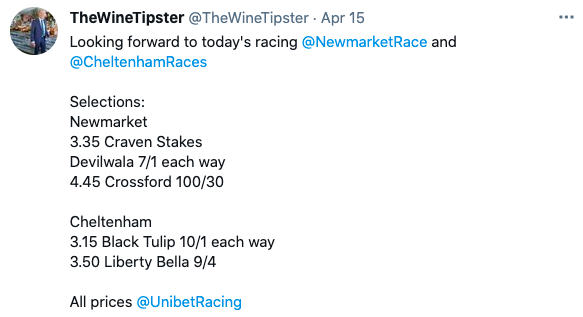 newmarket and chelt april 2021