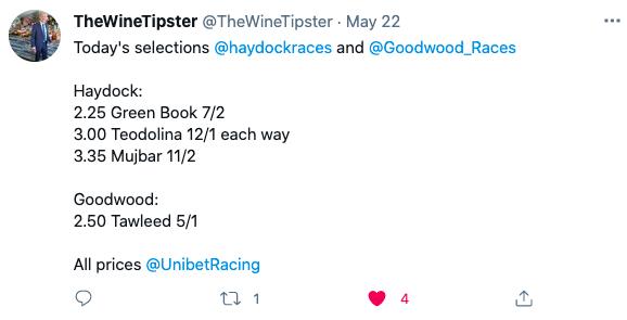 haydock and goodwood may 2021