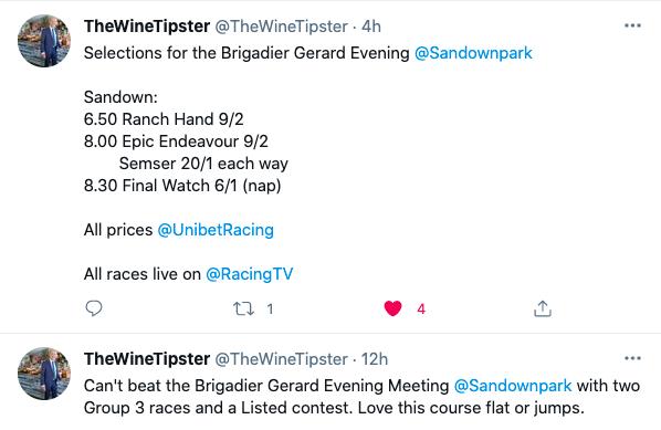 Brigadier Gerard Evening Sandown