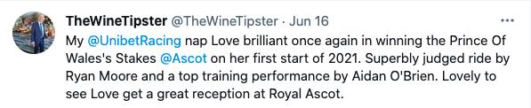 Love brilliant Ascot 2021