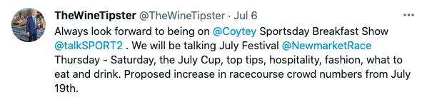 Coytey for July Moet 2021