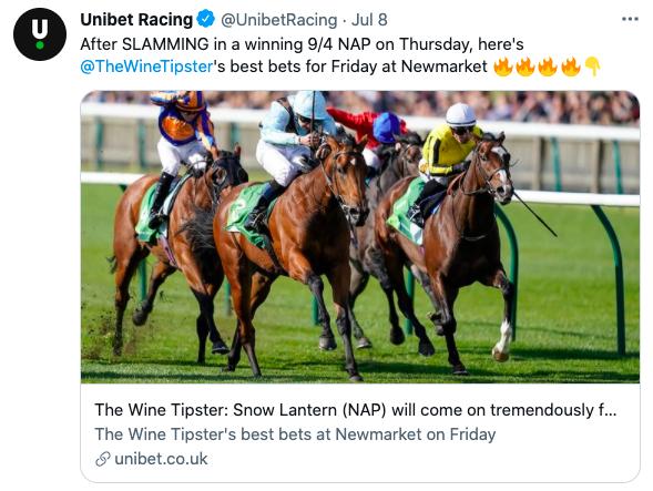 Unibet July Fest selections 2021
