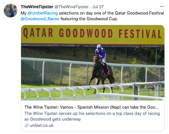 selections for day 1 goodwood
