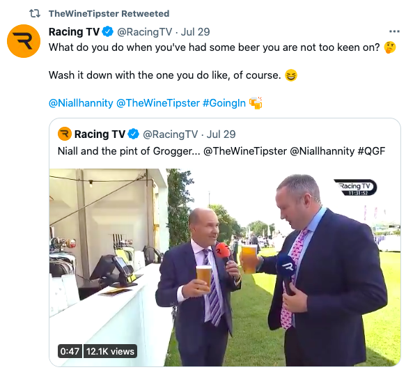 Goodwood beer racing tv