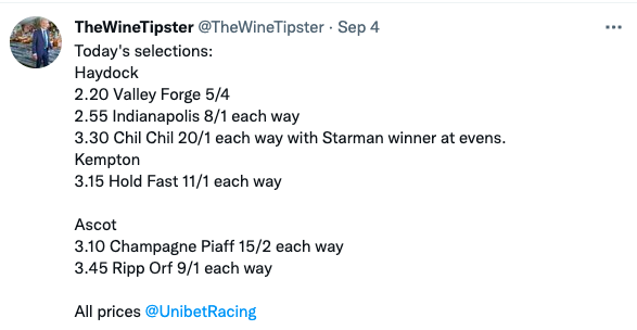 Sept 4th Selections